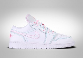 NIKE AIR JORDAN 1 RETRO LOW GS WHITE TEAL DIGITAL PINK