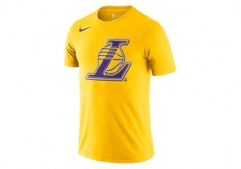 NIKE NBA LOS ANGELES LAKERS LOGO TEE AMARILLO