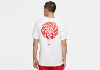 NIKE KYRIE IRVING LOGO DRI-FIT TEE WHITE