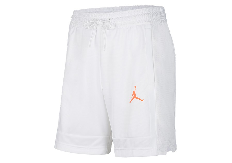 NIKE AIR JORDAN BASKETBALL SHORTS WHITE