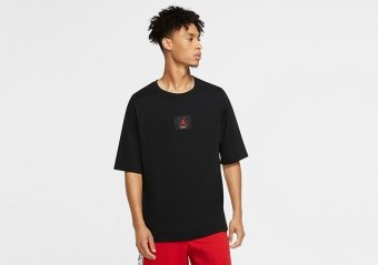 NIKE AIR JORDAN FLIGHT TEE BLACK