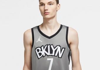 NIKE NBA BROOKLYN NETS KEVIN DURANT STATEMENT EDITION SWINGMAN JERSEY DARK STEEL GREY