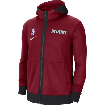 NIKE NBA MIAMI HEAT SHOWTIME THERMA FLEX HOODIE
