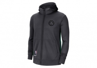 NIKE NBA BOSTON CELTICS SHOWTIME CITY EDITION THERMA FLEX HOODIE ANTHRACITE