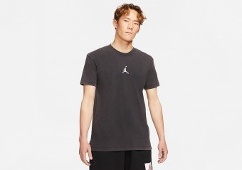 NIKE AIR JORDAN DRI-FIT SHORT-SLEEVE GRAPHIC TOP TEE BLACK