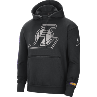 NIKE NBA LOS ANGELES LAKERS COURTSIDE CHROME PULLOVER HOODIE