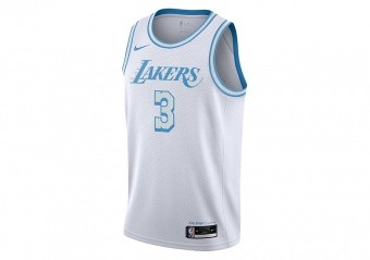 NIKE NBA LOS ANGELES LAKERS ANTHONY DAVIS CITY EDITION SWINGMAN JERSEY WHITE