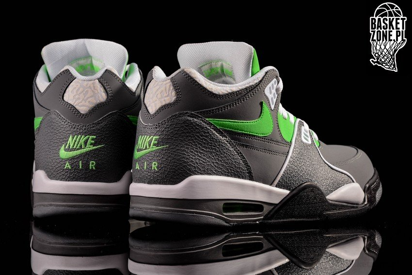 online store 1f2cd 5f71d NIKE AIR FLIGHT  89 COOL GREY POISON GREEN