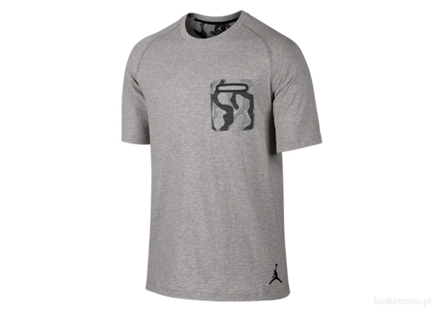 NIKE AIR JORDAN POCKET TEE DK GREY HEATHER