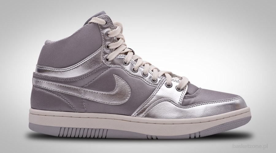 NIKE COURT FORCE HI PREMIUM SILVER SHINE